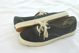 Keds Black Canvas Classics ORIGINALS DENIM Size 9.5 SNEAKERS SHOES - $26.30 CAD