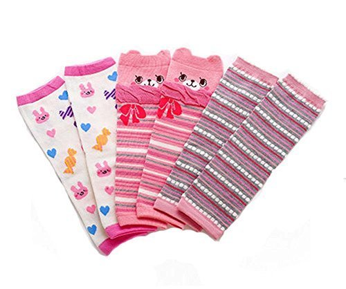 Baby Cotton Socks Baby Leggings Comfy Leg Guards,3 Sets£¨Pink)