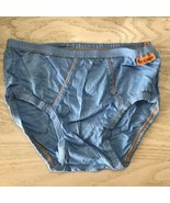 Vtg Jockey Skants Denim Blue Bikini Brief Light Blue Orange Size Small 2... - $46.64