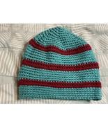 Jade Maroon Stripes Striped Hat Crocheted Crochet Winter Cap Terezi inspired - $25.00