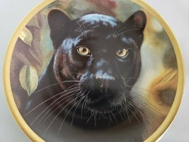 """Cat Kitty Lenox Collector Plate """"Black Panther"""" Artist Qua Big Cats Of World  - $46.75"""