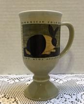 Vintage OTAGIRI Warren Kimble AMERICAN FOLK ART Rabbit Pedestal Coffee Mug - $10.00