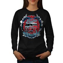 Flower Power Hippy Jumper Camper Van Women Sweatshirt - $18.99