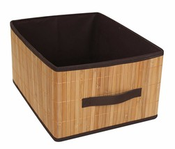 Set of 2 Laundry Hamper Bamboo Square Wicker Clothes Bin Basket Storage ... - $48.36 CAD