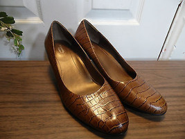 Shoes Easy Spirit Pump Brown Size Size 7.5 D  Tan Leather Comfort 2 NWOT - $48.51