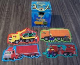 Usborne Box of TRUCKS CHILDREN'S PUZZLE SET 4 Small Puzzles in Box - $14.85