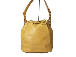 Auth LOUIS VUITTON Petit Noe Yellow Epi Leather Drawstring Shoulder Bag ... - $285.00
