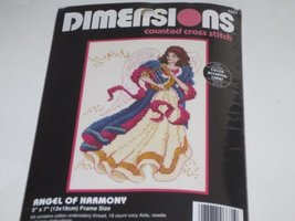 "Angel of Harmony Counted Cross Stitch Kit -- 5"" x 7"" - $19.90"