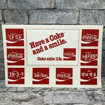 Vintage Have a Coke Smile Coca Cola International Arabic Hebrew Thai Sti... - $19.79