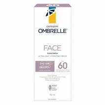 2X Garnier Ombrelle Face Ultra-Light Cream 75ml Spf 60 Sunscreen Fresh Long Exp. - $38.36