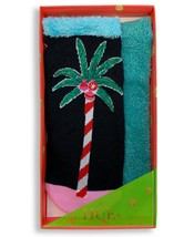 HUE 2-pack Footsie Socks Gift Box Candy Palm Tree - $9.79