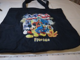 2008 Walt Disney World Florida tote bag BROKEN ZIPPER travel navy blue Park READ - $10.09