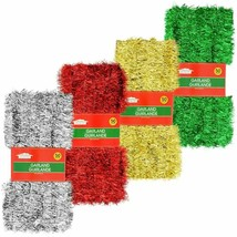 Christmas House Tinsel Garland, 50 ft. In time for upcoming season Red a... - $3.00
