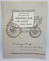 Vintage 1959 Carrosse Artisanat Véhicules Pour Cheval & Poney Catalogue - - $31.94