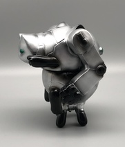 2-Sided Silver Mecha Cat image 4