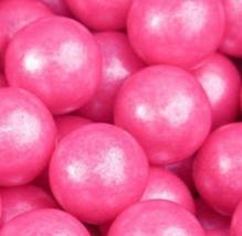 Shimmer Pearlescent Bright Pink 1 Inch Gumballs (5 POUND) - $25.93