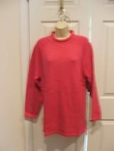 NEW/PKG Newport News Fuschia Roll Neck Long Leggings Sweater Size Small - $16.33