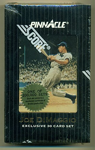 1993 Pinnacle Joe Dimaggio Exclusive 30 Card Commemorative Set Sealed with COA f