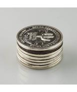 Harrah's Seven Dollars .999 Argent fin Casino TOKENS Lot of 8 Mr & LM - $237.58
