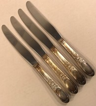 4 Knives Burgundy Champagne 1934 Wm Rogers International Silver Grapes No Mono - $38.69