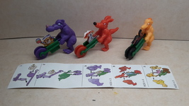 Kinder - K00 3-5 Wheelbarrow race - complete set + 3 papers - surprise eggs - $3.50