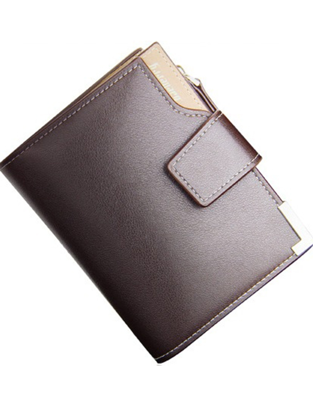 6a2a827c41 Unomatch Men Zipper Opening Mock Wallet Brown and 31 similar items