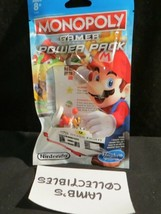 Monopoly gamer card game power pack Hasbro gaming Nintendo Fire Mario figure - $8.97
