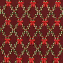 Let it Sparkle~Red Wreath Metallic Christmas Cotton Fabric by RJR Fabrics - $13.25