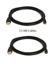 2 Usb Cables For Sony DCR-SX44/L DCR-SX50 DCR-SX50E DCR-SX60 DCR-SX63 DCR-SX73 - $9.83