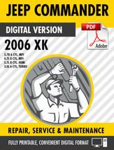 2006-2010 Jeep Commander XK Factory Repair Service Manual - $9.90