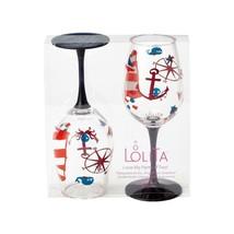 """Designs by Lolita"" Acrylic Wine Glass Maritime Set of 2 - 16 oz Boat, Hot Tub image 1"