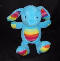 "12"" Animal Adventure Baby Blue Bunny Rabbit Rainbow Easter Stuffed Plush Toy - $27.12"