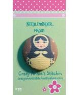 Matryoshka #14 Needleminder fabric cross stitch needle accessory - $7.00