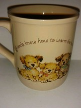 Vintage Hallmark Mug Mates Collectible Coffee Mug Friendship and Puppies... - $22.76