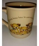 Vintage Hallmark Mug Mates Collectible Coffee Mug Friendship and Puppies... - $22.76
