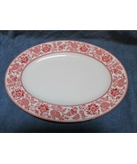 """Wedgwood Red Damask Oval Serving Platter 15 1/4"""" - $39.58"""