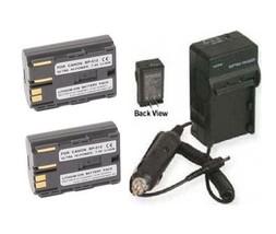 Two 2 Battery + Charger for Canon BP-508 BP-511 BP-512 BP-514 BP508 BP511 BP512 - $32.35