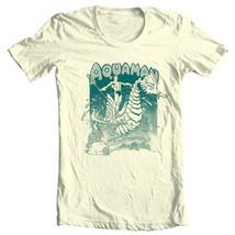 Retro Aquaman T-shirt Classic Golden Age DC comics graphic cotton tee DCO162 image 2