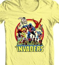 The Invaders T Shirt 1970s vintage WWII  Marvel Comics Union Jack graphic tee YL image 2