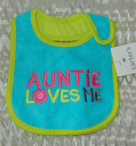 Carters Baby  Auntie Loves Me Bib   New with Tags - $7.92