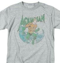 Aquaman T-shirt SuperFriends retro superhero cartoon DC grey graphic tee DCO815 image 1