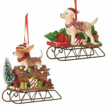 Dog on Sled Ornament - $21.95