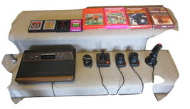 ATARI CX 2600- A CONSOLE WITH GAMES AND ATTACHMENTS . GREAT CONDITION - $85.00