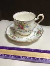 Vintage Royal Albert Bone China Tea Cup and Saucer in Petit Point Pattern - $24.18