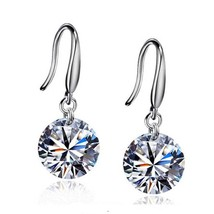 EK Hot Selling Lady Elegant Fashion Noble Zircon Crystal Dangle Drop Ear... - $20.00