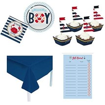 Nautical Baby Shower Decorations for Boy, Party Supplies and Cupcake Dec... - $45.99