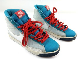 Nike Blazer High Neo Womens Sneakers Turquoise/Midnight Navy/Red 317808-... - $66.93 CAD