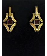 Swarovski Crystal Earrings,1980's,Pierced,Amethyst,Aquarius,February bir... - $165.00