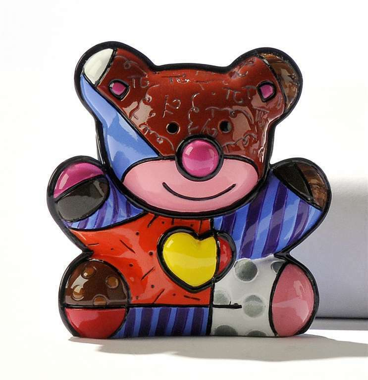 Romero Britto Mini Bear Love Bear  Figurine #331389