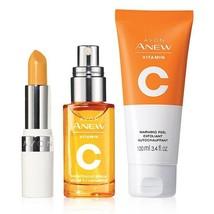 Avon Anew Vitamin C Trio Pack - Serum / Warming Peel Exfoliant / Lip Treatment - $29.75